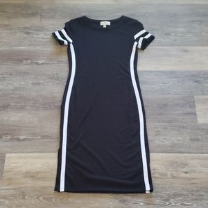 Black Derek Heart Bodycon Dress Size Small